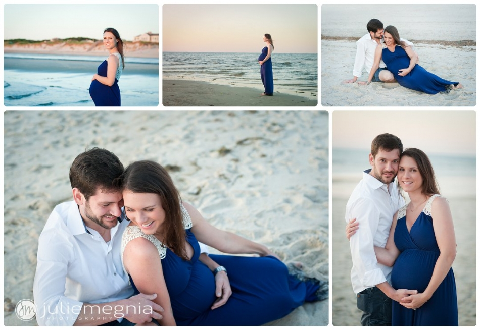 Beach Maternity Portrait_Julie Megnia Photography