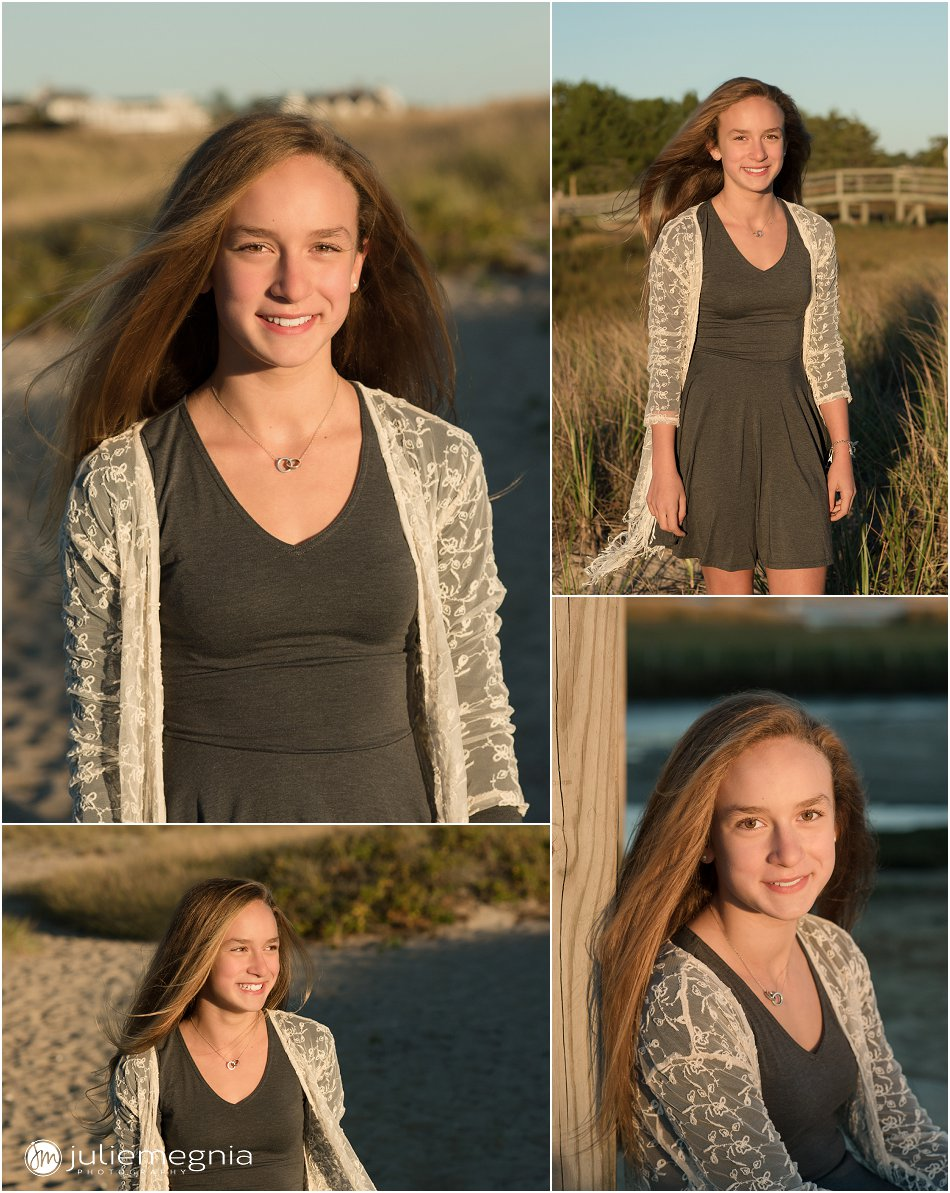 tween sunset beach portraits in chatham MA