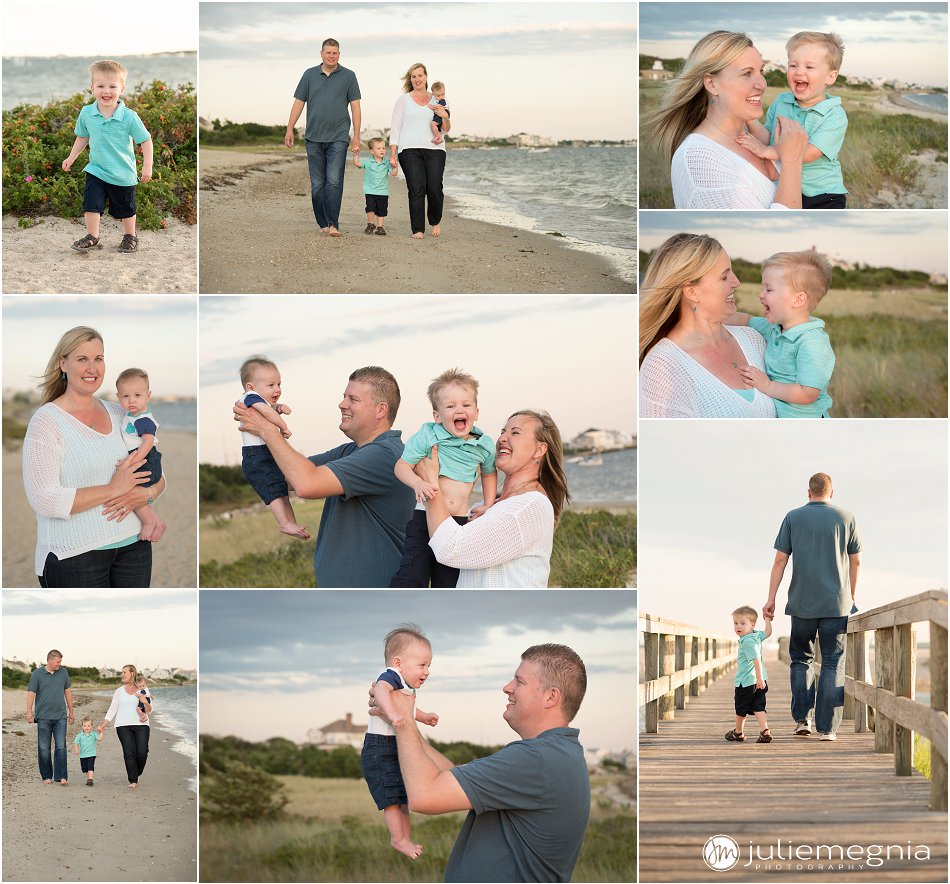 lifestyle family sunset beach portraits Yarmouth MA