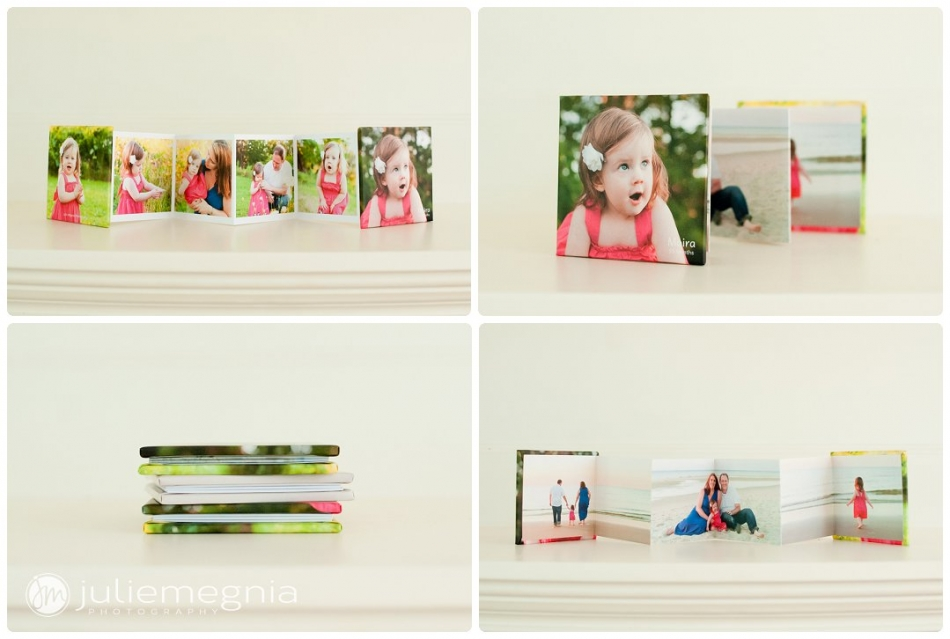 Accordion Mini brag books display your favorite photography session images beautifully