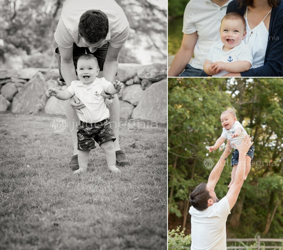 Dad and baby portrait cape cod family portrait photographer